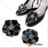 Fashion Shoe Ornament Leather Flower Design