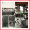 The latest design solar removeable DC 100L icecream freezer with tricycle, freezer, solar panel