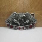 Eagle belt buckle with pewter finish plating FP-03011 mixed order available