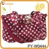 microfiber dotted mummy diaper bag