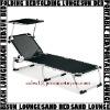 Teslin mesh aluminium folding beach sun bed chaise lounger bench with sunshade PAL217