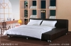 2012 hot sale comfortable leather bed (PC-003)