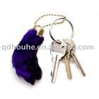 rabbit feet keychain,lucky charm,lucky keychain