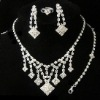 beautiful Bride's complete set of rhinestones necklace