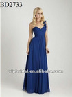 2012 sweetheart chiffon one shoulder royal blue bridesmaid dresses