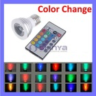 3W E27 16 Color LED RGB Bulb Color Change Remote Control Spot Light