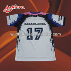 custom sublimation printed soccer jersey t-shirt