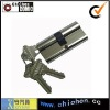 Double open door lock cylinder