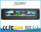"new arrival! 5""x 3 triple rack mount HD monitor for professional broadcast,"