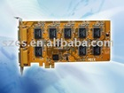 16 channel PCI-E Vista DVR Card 480fps