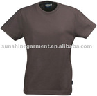 women's brown plain t-shirt