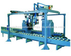 Full automatic shrink mouth and ginning machine for water heater tank