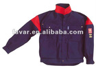 Navy Blue Red Flame Resistant Jacket FR Oil Field Jacket