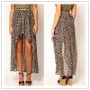 Leopard High Low Skirt,short front long back dress