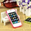 2012 new metal button plastic bumper case for apple iphone4s