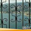 Modern forged iron fored iron gate