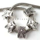 2012 New Wholesale And hot sale bear Charms Alloy Antique Silver Beads Fit jewelry making for Bracelets or necklace 8A038