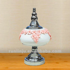 Ceramic candy jar with lid surface stick flower pot 28009