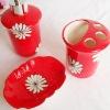 flower ceramic bathroom set