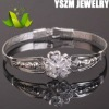 diamond bracelet 999 silver bracelet with crystal flower