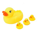 Can Make a Sound Floating Rubber Ducky Bathtub Toys 4 Pcs/Lot