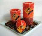 art candle set