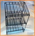 3 shelves foldable cosmetic wire display shelf