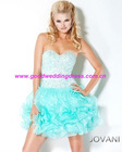 Bestselling Sweetheart Strapless Crystals Organza A-Line Short Mini Cocktail Party Dresses