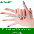Soak off color gel uv