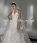 Halter mermaid manufacture wedding dress