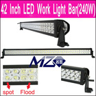 Aurora led off road light bar 240w in Guangzhou ,Double bracket,Spot beam ,flood beam and combo beam,Waterproof IP67,