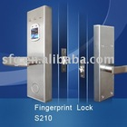 wooden door fingerprint lock with stainless steel