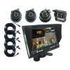 7 Inch Quad LCD Stand Alone Monitor with 4 Images and SunVisor and 4 Truck or Bus Cameras (UN-MC-T70SV-A-4)