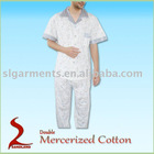 Double Mercerized Cotton Pajamas Mens Pyjamas