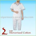 Double Mercerized Cotton Pajamas Mens Pyjamas