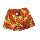 mens boxer shorts printed with hot dog