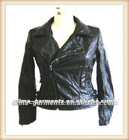 Wrinkled PU Leather Ladies Fancy Jackets