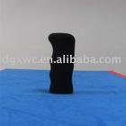 black durable rubber door handle cover