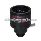 2012 new designed varifocal 4-9mm manual iris megapixel board mount lens