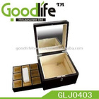 Wooden jewely box with mirror in stock
