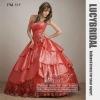 Dazzling Ball Gown Swarovski Pleats Tiered Taffeta Prom Dress PM519