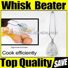 FRENCH WHISK / EGG BEATER / STAINLESS STEEL COIL WIRE WHIP