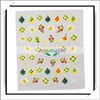 Hot! 50pcs/lot Professional Christmas 3D Design Nail Art Sticker 3D