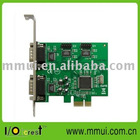 4-port Serial PCI-Express Controller Card (RS232, DB9)