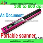 colourfull usb portable scanner A4 sized document Handyscan