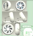 2012 newest product round wireless USB mini fan save energy