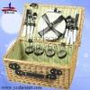natural handmade empty wicker picnic baskets