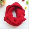 Red Knit loop scarf color customized