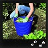 40L plastic garden trugh, flexible buckets
