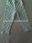 turquoise and white polka dot baby cotton leggings cotton pants for baby,